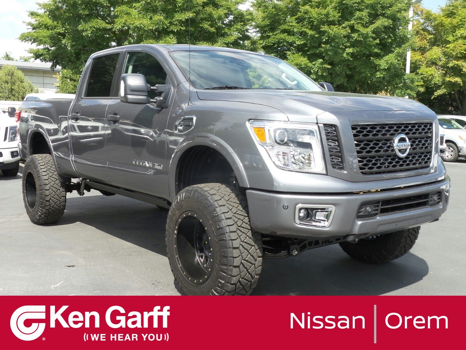 new 2018 nissan titan xd pro 4x crew cab pickup in orem 2n80290 ken garff nissan of orem. Black Bedroom Furniture Sets. Home Design Ideas
